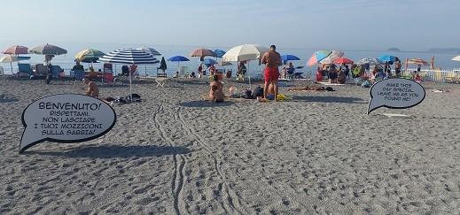 Non lasciare i tuoi mozziconi sulla sabbia