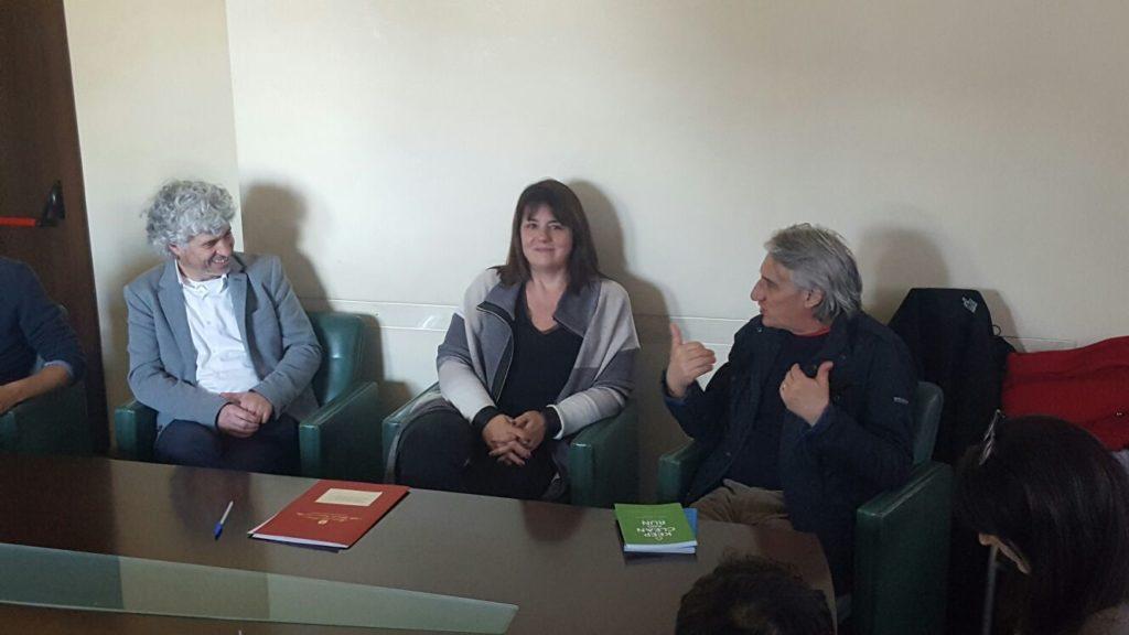 Roberto Cavallo di AICA, Sottosegretario Barbara Degani, il regista Mimmo Calopresti