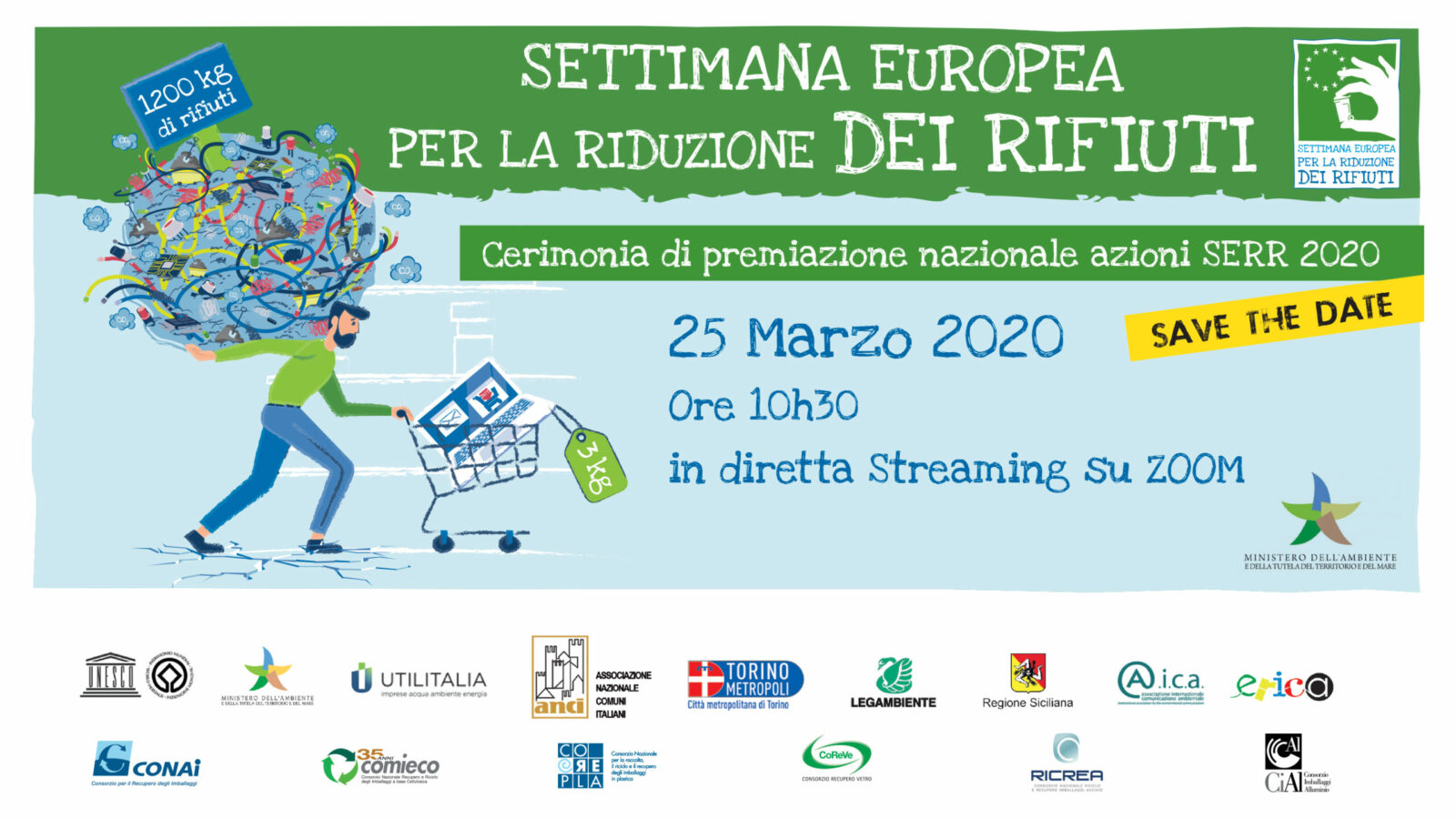 Le premiazioni italiane delle migliori azioni SERR 2020 saranno il 25 Marzo, ore 10,30